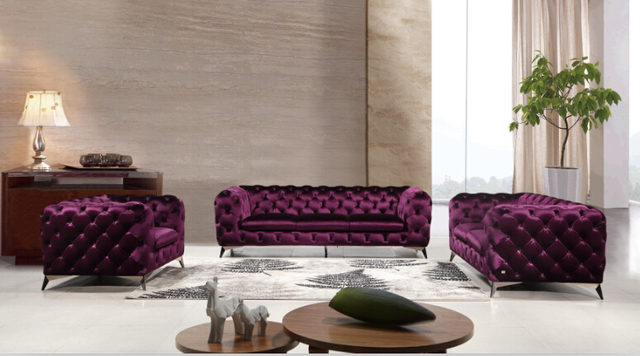 Italian sofa set living room sofa Modern living room sofa sets-in ...