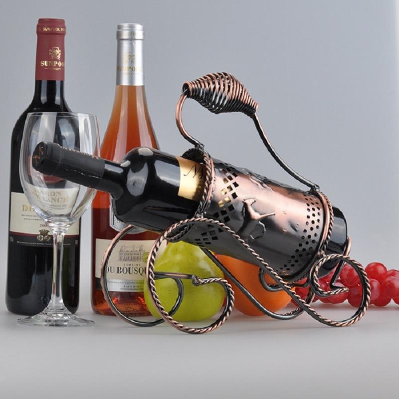 Europea retro vino creativo de hierro forjado - Estanterias de vino ...