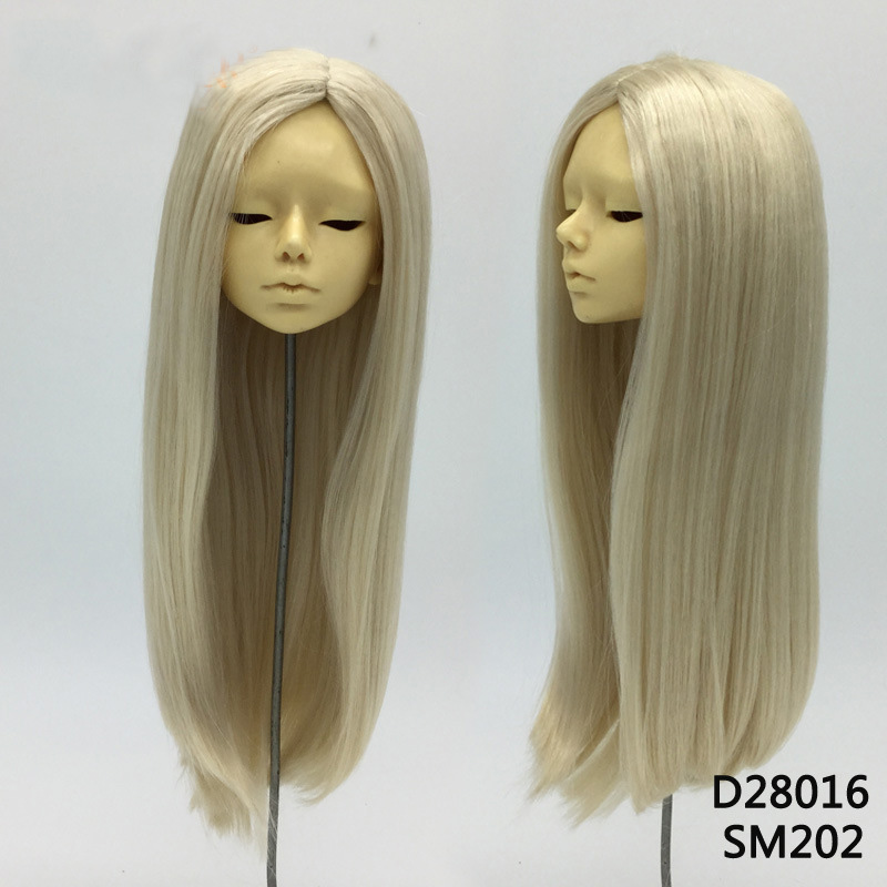 1PCS Hot Sale Doll Accessories Straight Doll Wig Blond BJD Wig 1/3 1/4 1pcs hot sale sd bjd doll wigs blond curly wig for bjd doll 1 4 1 3 1 6 1 8