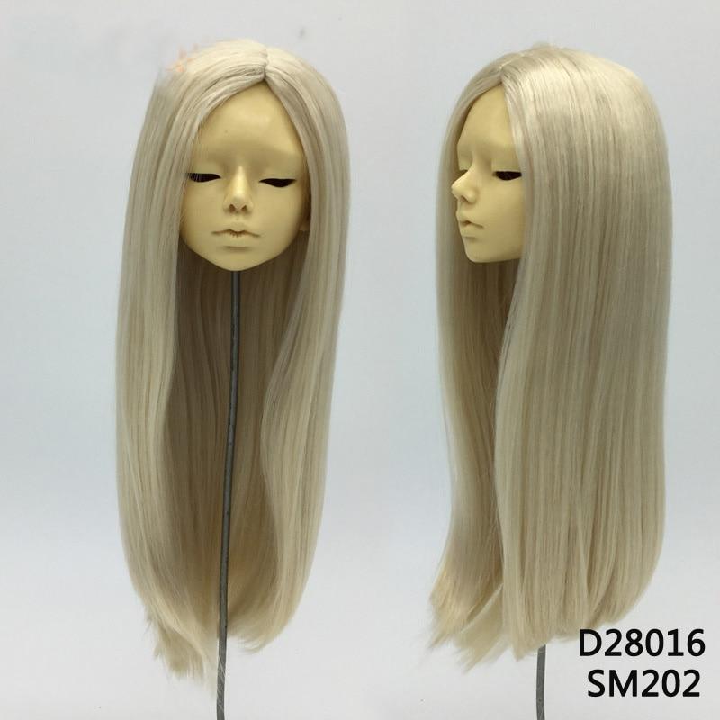 1PCS Hot Sale Doll Accessories Straight Doll Wig Blond BJD Wig 1/3 1/4 1pcs hot sale sd bjd doll wig curly wig for dolls bjd 1 4 1 6 1 3