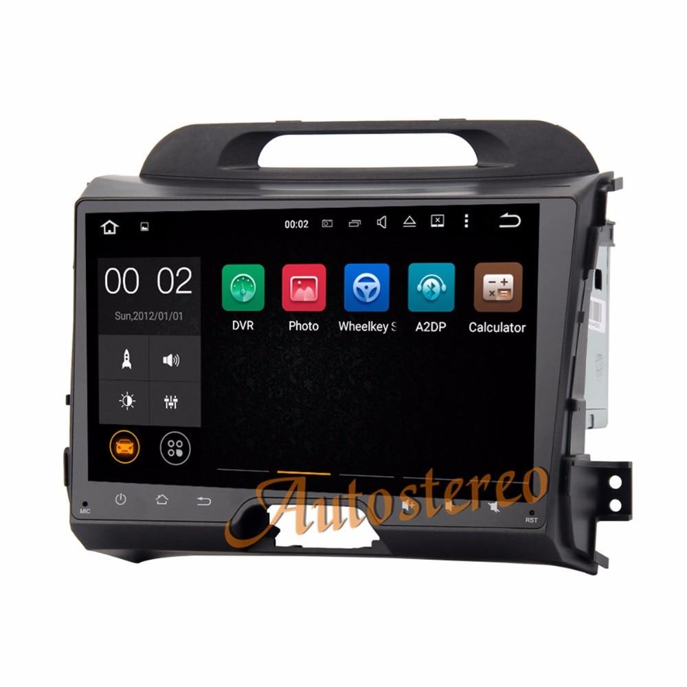 9'' Android 8.0 Car GPS Navigation Car DVD Player For KIA SPORTAGE SPORTAGE R 2010 2016 auto Stereo Unit multimedia audio radio