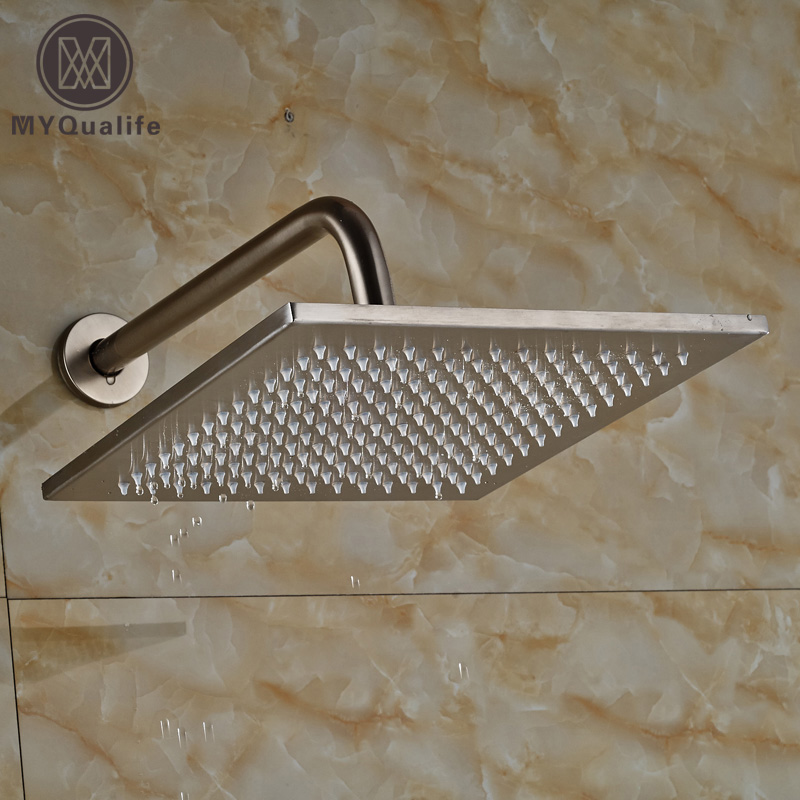 Classic Wall Mount 30cm Shower Arm Stainless Steel 12