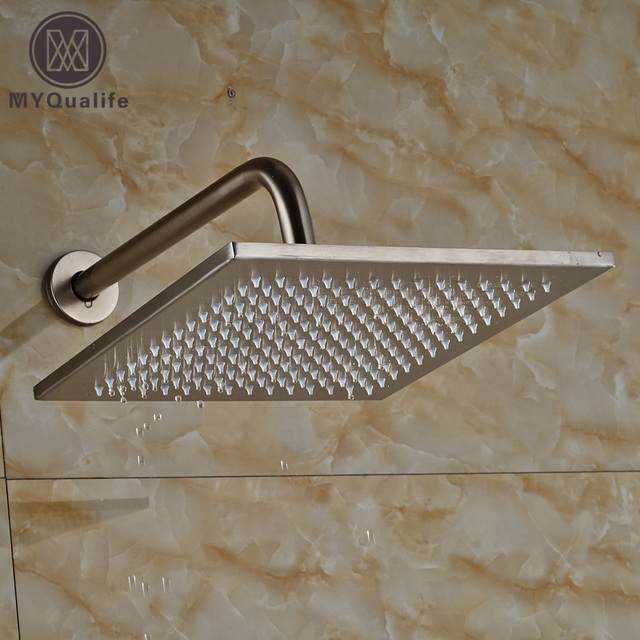 Classic Wall Mount 30cm Shower Arm Stainless Steel 12 Rainfall