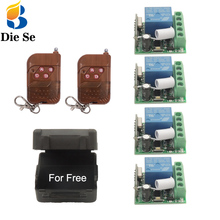 433 MHz rf Remote Control Switch DC 12V 10A 1CH Relay Receiver for Universal Light/LED/Bulb/Lamp Control 4 Independent Controls long range remote control switch dc 12v 1ch 10a relay receiver transmitter learning code light lamp wireless switch 315 433 4065