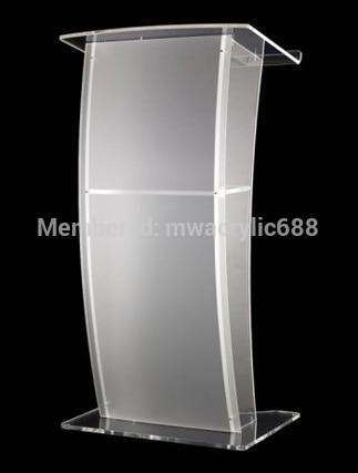 Free Shipping High Quality Price Reasonable CleanAcrylic Podium Pulpit Lectern Podium Plexiglass