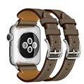 2017 novos couro genuíno watch strap pulseira dupla fivela cuff pulseira para apple watch band esporte iwatch 38mm 42mm
