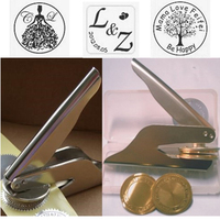 Portable Metal Embossing Stamp Custom Wedding Embosser Seal