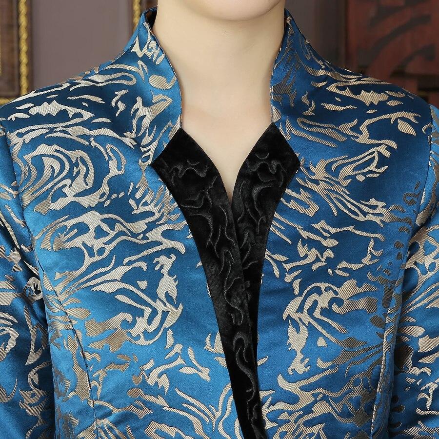 Nouvelle Haute De 4xl Tops Xxxl Mince Manteau Élégant Bleu Costume La Taille Style R03 L Arrivée Xl Xxl Veste Plus Vestes Tradition Tang Chinois Qualité BrErqw
