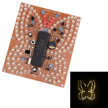 Music Butterfly Shape White LED Light DIY Kit Lighting Fun Electronic Production Suite for Test Exam Matching Remote Controller