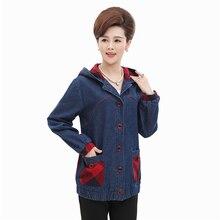 Джинсовая Куртка Женщин Новая Мода Красный Решетки Карман Пальто С Капюшоном однобортный Случайные Свободные Пальто Женщин H218