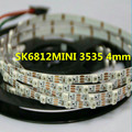 SK6812MINI 3535 4MM/SK6812 5050 5mm DC5V RGB led pixel strip 1m 2m 5m 60LEDs/m 4mm 5mm FPC NON waterproof 60pixels/M as WS2812B
