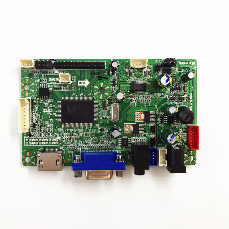 Free shipping VGA HDMI AUDIO LCD Controller Board HDMI for 17 3 inch  1920x1080 HSD173PUW1 WLED LVDS LCD driver board DIY