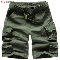 2017 New Arrivels Camouflage Mens Cotton Shorts Homme Summer Loose Army Cargo Short Men Plus Size