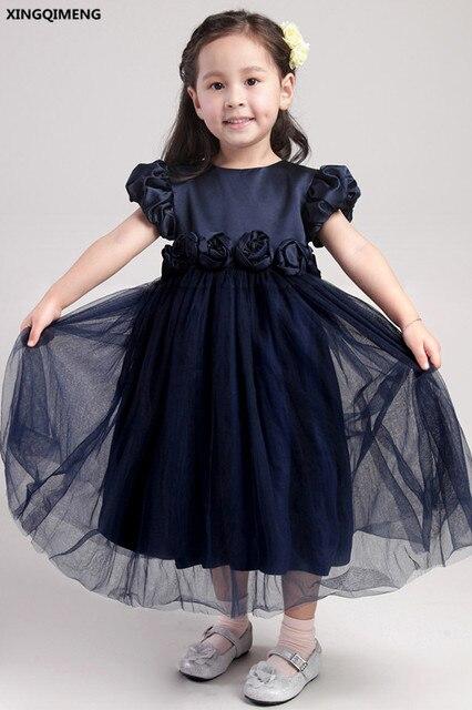 Vestido azul oscuro de nina