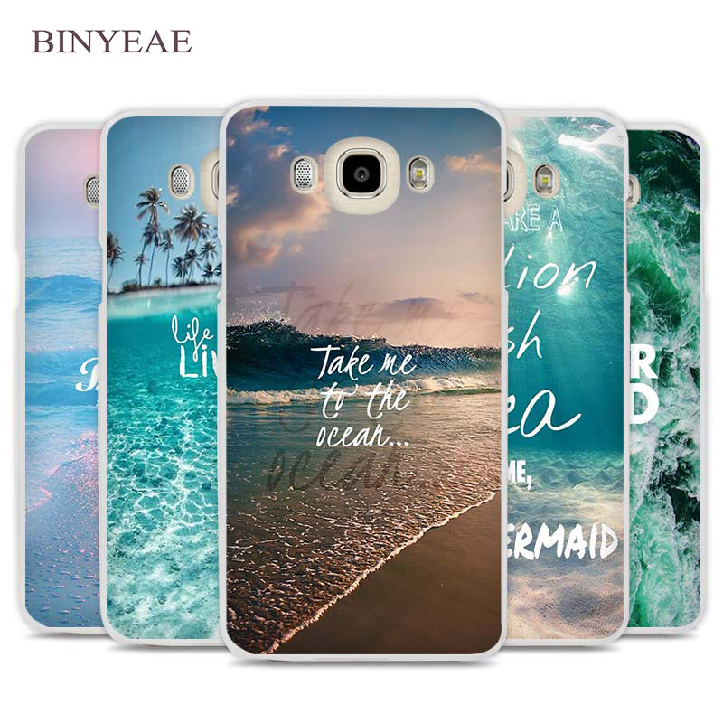 BINYEAE Neverland Ocean Sea Wave Quote Cell Phone Case Cover for Samsung Galaxy J1 J2 J3 J5 J7 C5 C7 C9 E5 E7 2016 2017 Prime