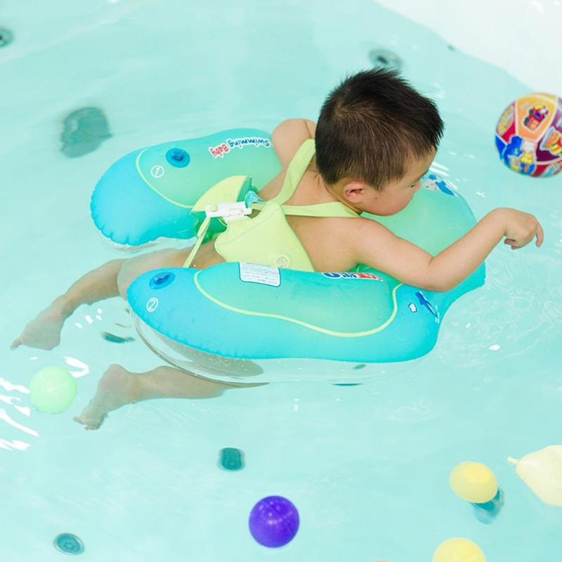Accessories 1pcs Neck Float Swimming Newborn Baby Swimming Neck Ring With Pump Gift Mattress Cartoon Pool Swim Ring 0-2 Years Old Baby Activity & Gear