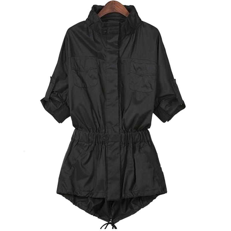 2018 Grande Femmes Taille Coupe Nouveau Printemps Vêtements Veste Long De vent Femme 1 fYb76gy