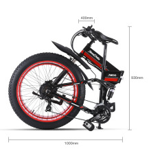 """48V500W Снежный и горный bike2"""" складной велосипед 4,0 fat tire Электрический литиевый аккумулятор мопед рама из алюминиевого сплава"""