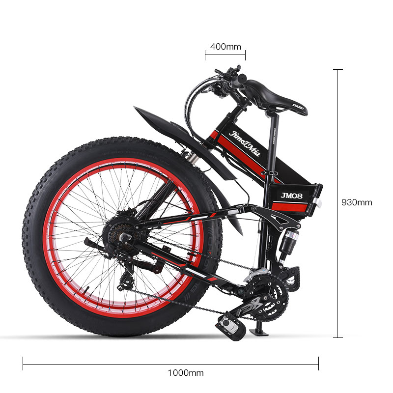 "48V500W snow and mountain bike26 ""folding bike 4.0 fat tire electric Lithium battery moped Aluminium alloy frame"
