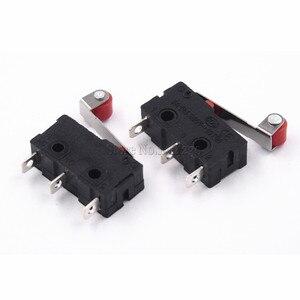 Image 1 - 10 sztuk gorąca sprzedaż mały mikroprzełącznik 3Pin z wyłącznikiem krańcowym rolki
