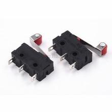 Mini Micro interrupteur offre spéciale, 3 broches, avec rouleau de limitation, 10 pièces