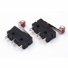 Mini interruptor Micro DE 3 pines con interruptor de límite de rodillo, 10 Uds. Gran oferta