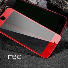 Łuk krawędzi 3D szkło hartowane szkło hartowane dla iphone 8 plus ochraniacz ekranu dla iphone 7 ochraniacz na iphone 6 6s 8 plus