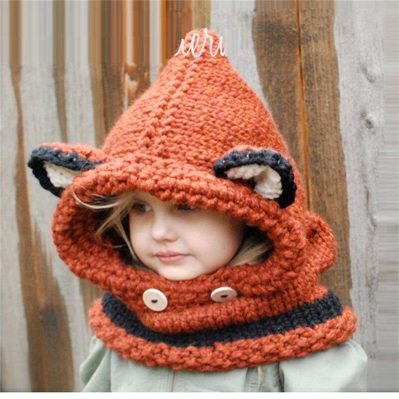 Niños Crochet el sombrero del invierno sombrero con capucha patrón ...