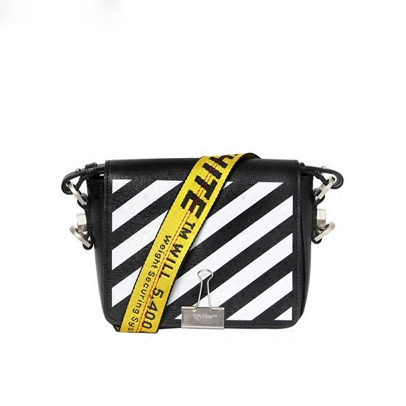 2017 SS Brand Women's Bag Oblique Stripes Cow Leather Flap Messenger Bag Causal