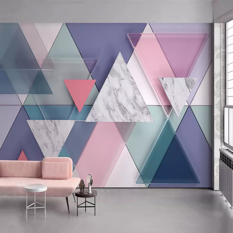 Photo Wallpaper Modern 3D Marble Geometry Murals Living Room Bedroom Home Decor Wall Paper For Walls 3 D Abstract Art Wallpapers