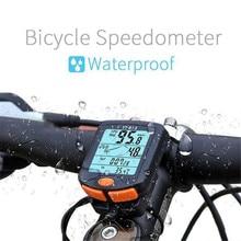 BOGEER велосипедный компьютер беспроводной Велосипедный компьютер Спидометр цифровой одометр секундомер термометр ЖК-подсветка непромокаемый черный