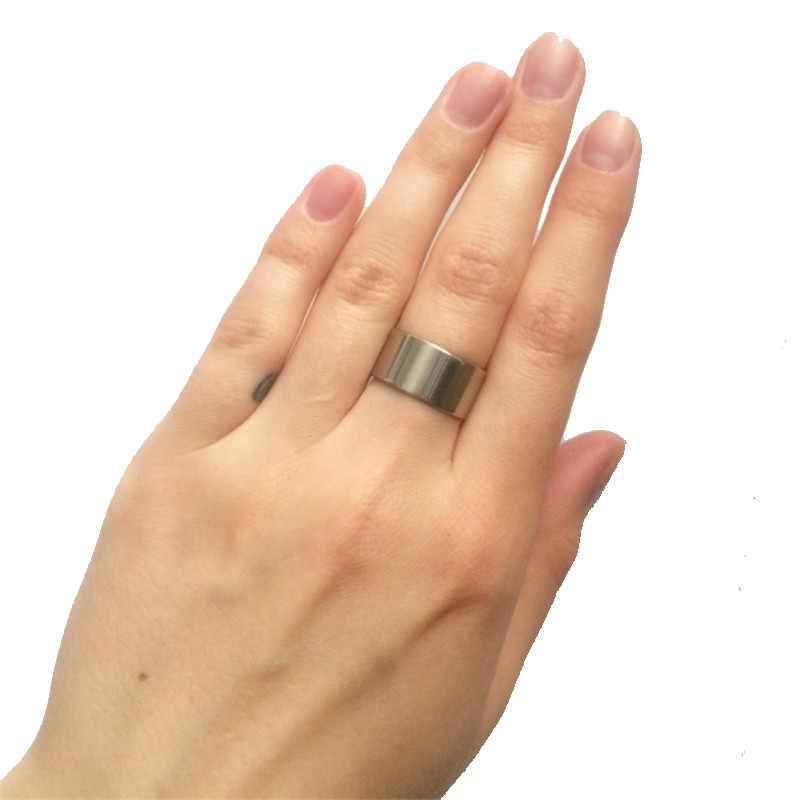 Light version 10MM wideTitanium Men rings 316L jewelry wholesale lots
