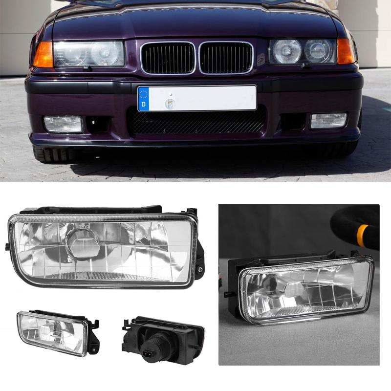 VODOOL Car Styling Front Bumper Right/Left Side Halogen Driving Fog Lamp for BMW E36 318i 318is 320i 325i 325is 328i 1992-1998 1 pcs left right fog lamp with bulbs front bumper driving fog light for suzuki alto 2009 2017