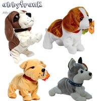 Abbyfrank音制御電子犬インタラクティブ電子ペットロボット犬樹皮スタンド歩く電子玩具犬用子供