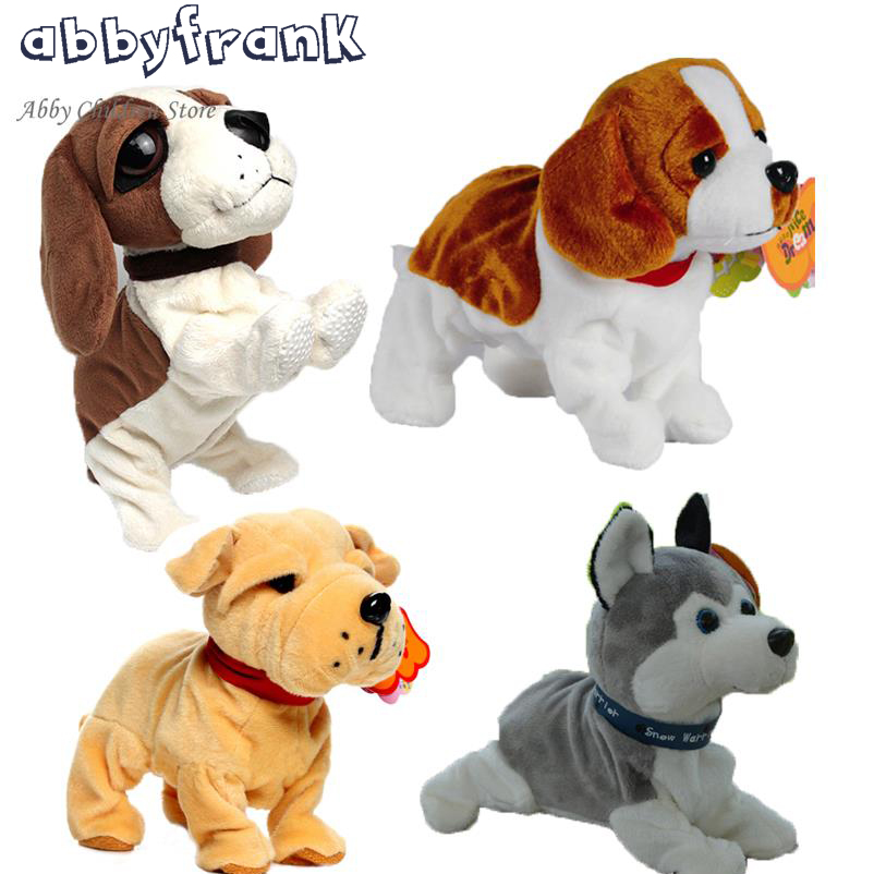 New Sound Control Electronic Pets Interactive Toy Dog Bark Stand Walk Electronic Toys Zoomer Dog For Children Christmas Electronic Pets