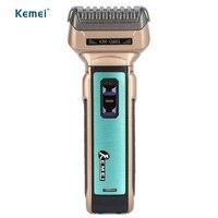 Kemei KM-Q601 휴대용 전기 면도기 EU 플러그 헤어 커터 트윈 블레이드