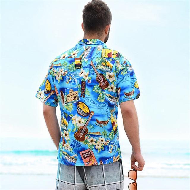 550ed3642a Camisa hawaiana de manga corta de verano amante pareja playa camisas de  tamaño de flor de