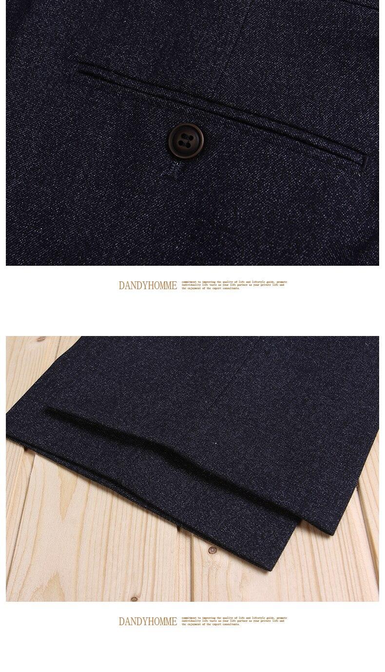 Высококачественный мужской темно-синий Тонкий деловой, Свадебный, для жениха, костюмы длинные штаны, Умные повседневные штаны для молодых мужчин в Корейском стиле