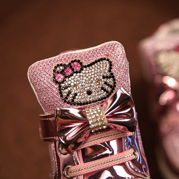 2016 Spring Autumn Girls Shoes Sequin Rhinestone Hello Kitty Sneakers Kids  Shoes For Girl Pink Color Bow Knot Baby Shoes on Aliexpress.com  c4664ea86cda