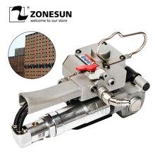 ZONESUN XQD-19 портативный пневматический полиэтиленовый обвязочный инструмент, инструмент для кольцевания переплет упаковочная машина для 12-19 мм PP пластиковый ремешок
