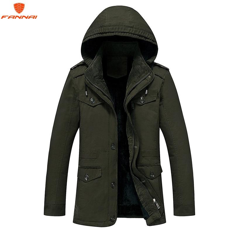Winter parka men plus velvet warm windproof coats mens military hooded jackets casaco masculino casacos men's outwear overcoat-in Parkas from Men's Clothing    1