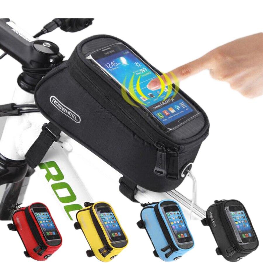 Roswheel 48 57 Tas Sepeda Depan Bingkai Telepon Bike Waterproof Bag With Smartphone Bersepeda Tahan Air Keranjang Beban Sadel Kursi Untuk Kepala Tabung