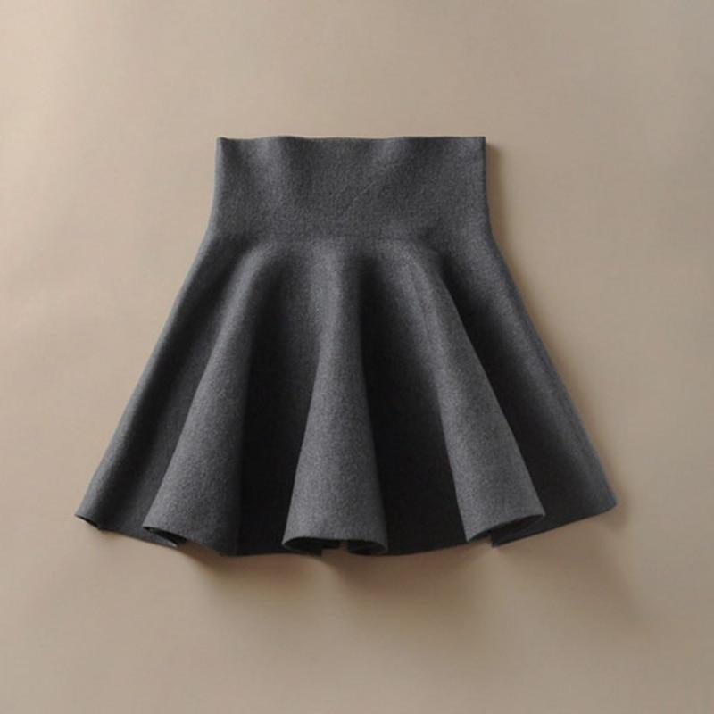 Women Stretch High Waist Short Mini Skirts Casual A-Line Short Flared Pleated Skirts Womens