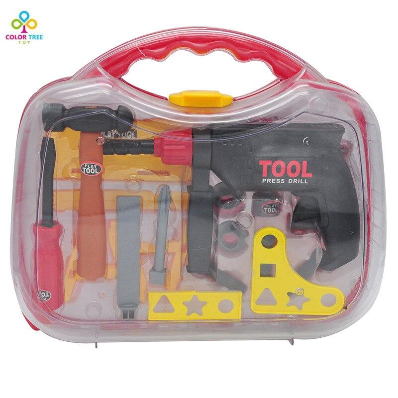 Builder Интимные аксессуары набор для детей строителей Пластик инструмент Интимные аксессуары комплект Игрушечные лошадки для Обувь для маль... ...
