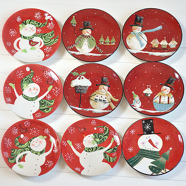 Christmas plate tableware plate red plate  sc 1 st  AliExpress.com & Christmas plate tableware plate red plate-in Porcelain Plates from ...
