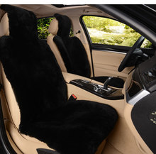 OKAYDA Black car seat cover Universal Full fur Sheepskin 100% New Arrival Protection your warm in winter free shipping