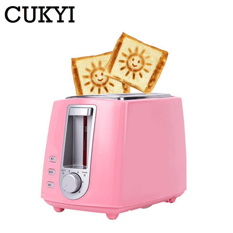 CUKYI 2 Slices Bread Toaster household automatic toaster Breakfast spit driver Breakfast Machine cukyi toaster italian technology breakfast machine household automatic single double sides baking stainless steel liner retro