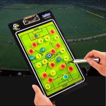 Football Tactics Board Coach Straight Magnetic PVC Soccor Teaching Tactical Command Exercise Plate