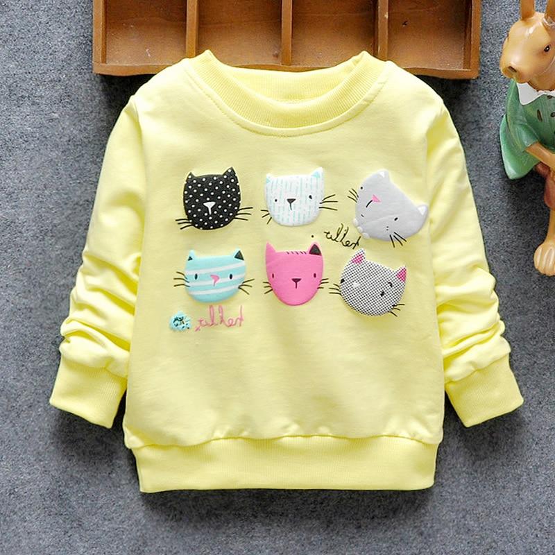 2020 sudaderas para niñas invierno primavera otoño blusas niños sudaderas con capucha 6 gatos suéter de manga larga niños chaqueta de camiseta