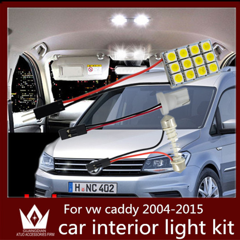 Guang Dian car led light interior light Kit dome led Reading light Roof lamp kit Fit for vw caddy accessories 2004-2015 partol black car roof rack cross bars roof luggage carrier cargo boxes bike rack 45kg 100lbs for honda pilot 2013 2014 2015